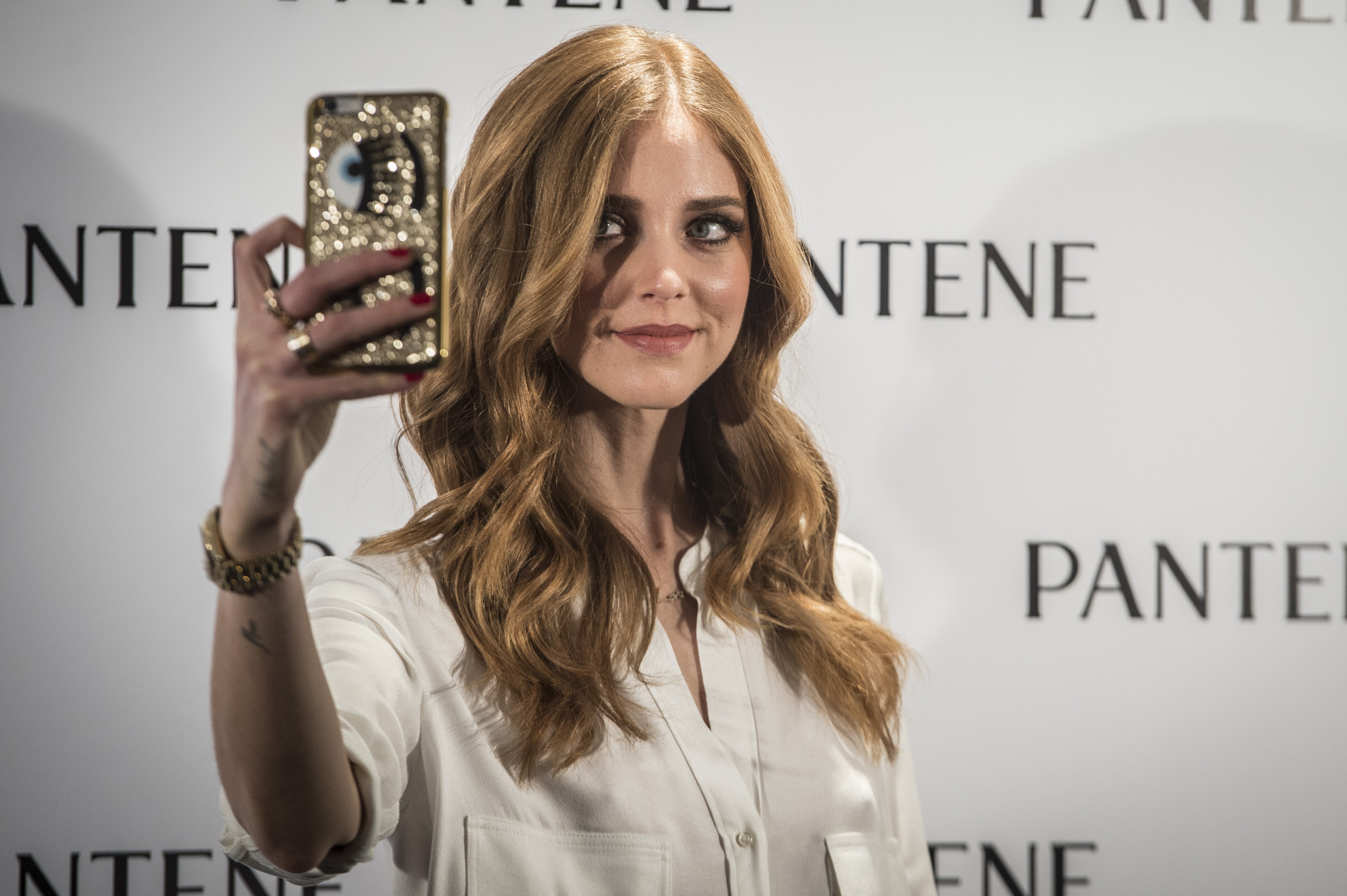 "Chiara Ferragni during act of firm "" Pantene "" in Madrid, on Thursday 28th January, 2016."