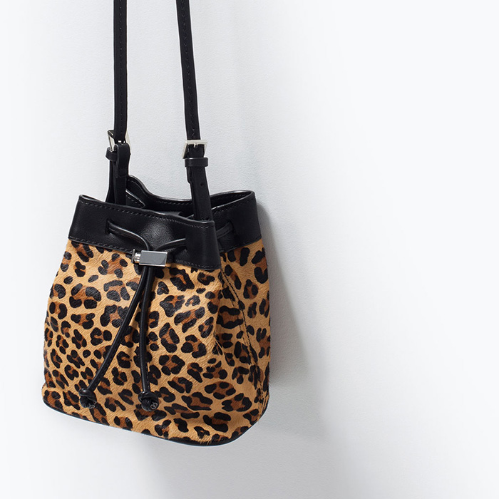 Saco animal print zara