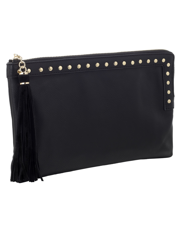 Accessorize Stud and Square Zip Top Clutch 489083 £15 June
