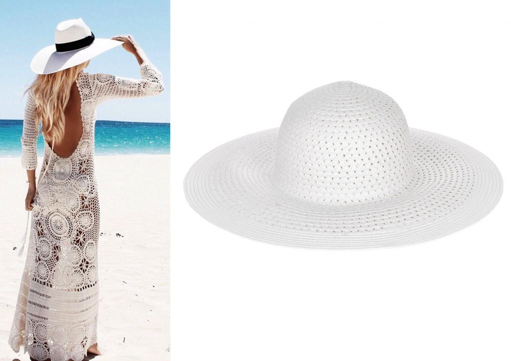 sombrero ala ancha blanco accessorize