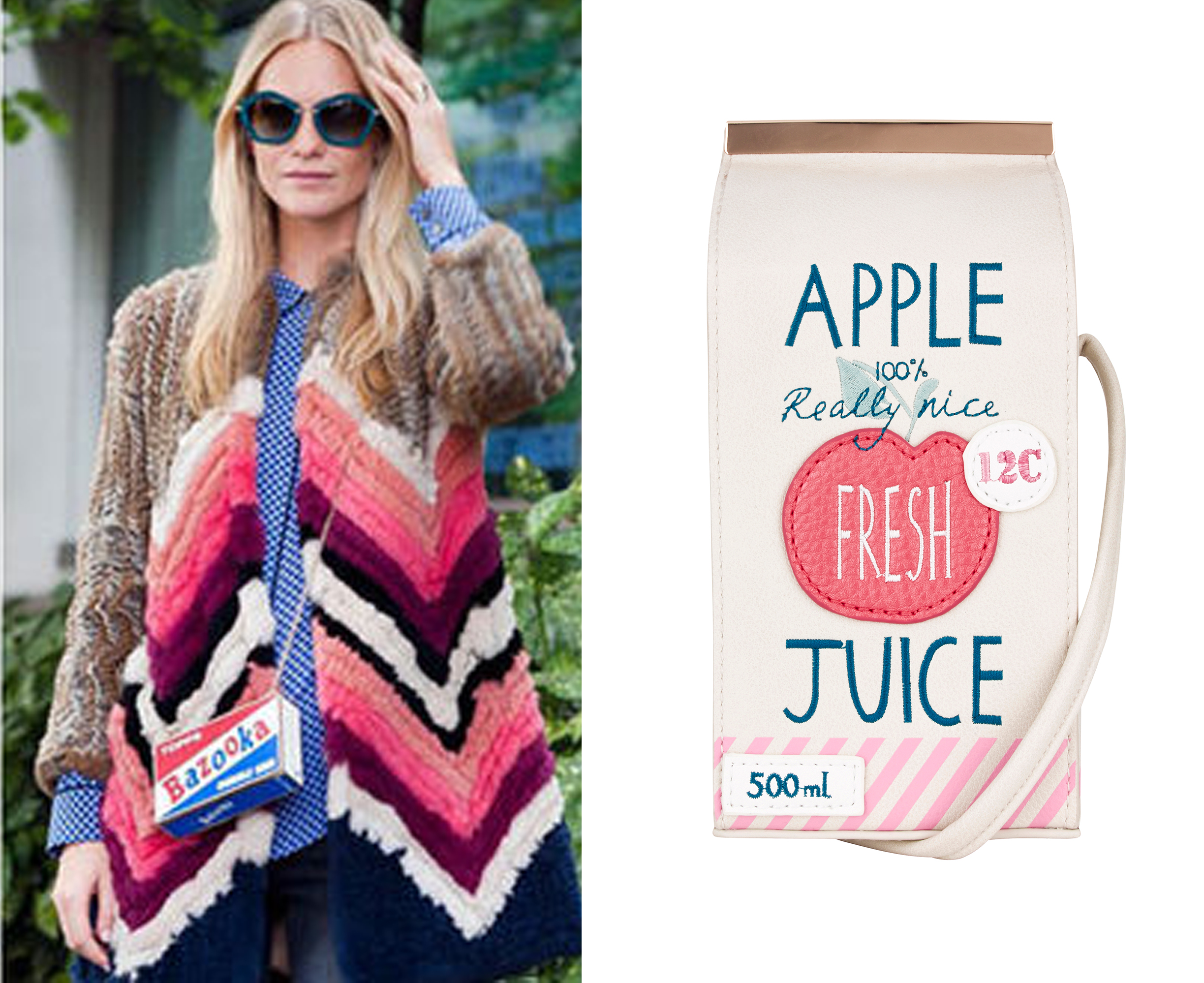 Bolso brick apple juice accessorize