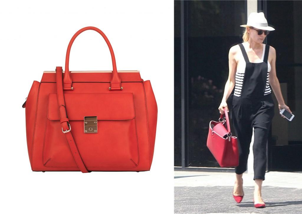 bolso tote rojo accessorize