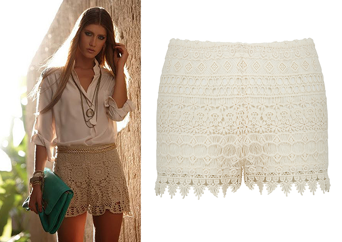 short croche blanco accessorize