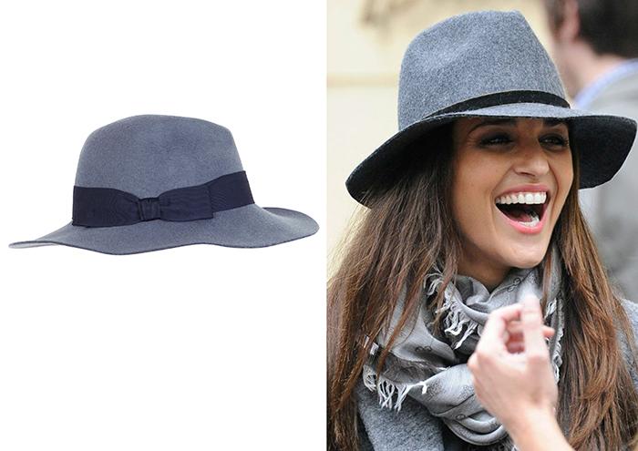 Sombrero de ala ancha en gris
