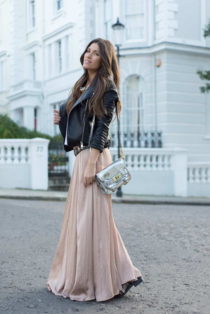 zara new collection flowy maxi skirt size s m ebay