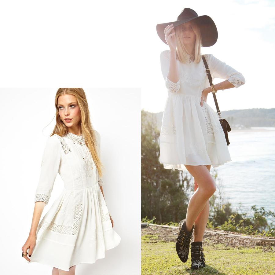 Vestidos de fiesta blancos asos