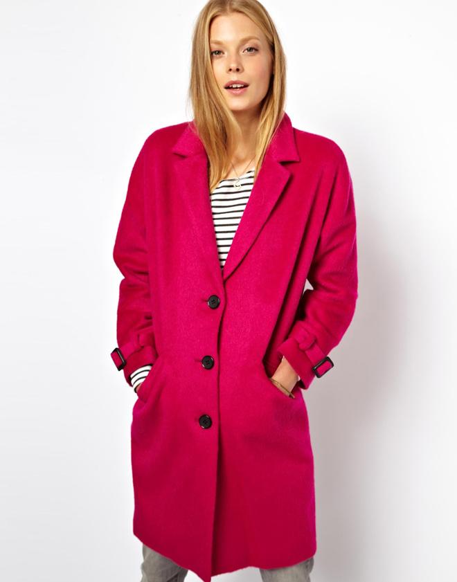 Изображение 1 из Розовое мохеровое пальто ограниченной серии ASOS