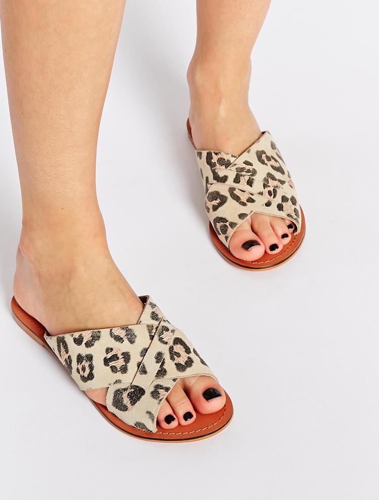 Sandalias leopardo Asos