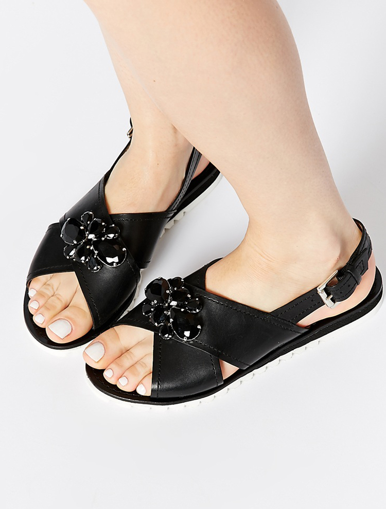 Sandalias con pedrería de Asos
