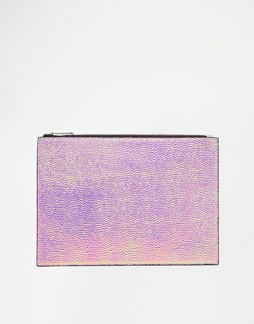 Clutch irisado Asos