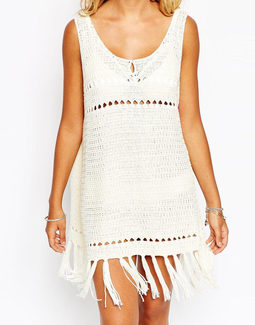 Vestido de playa de croché Asos