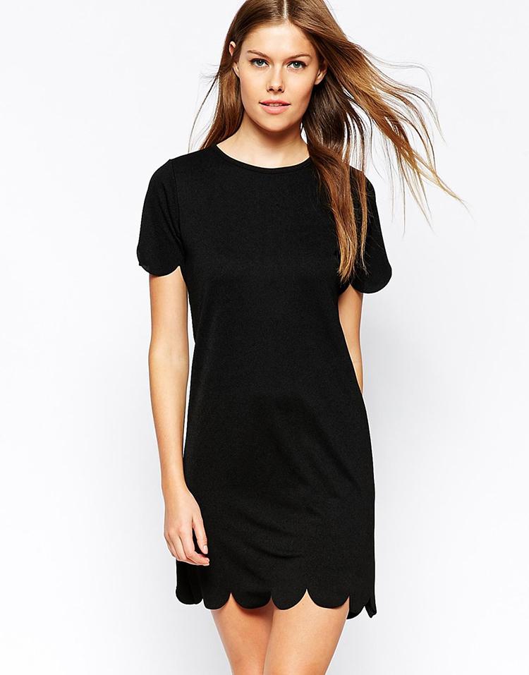 Vestido de punto en negro