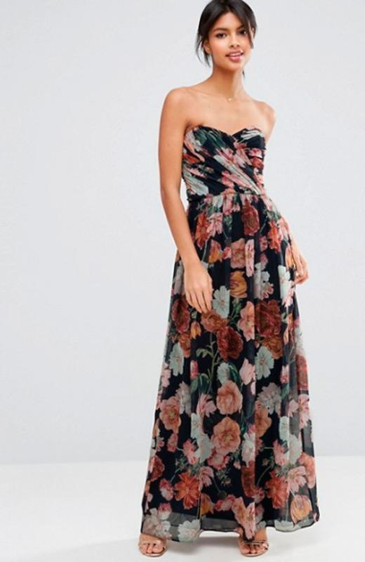 vestidos de fiesta Asos estampado de flores