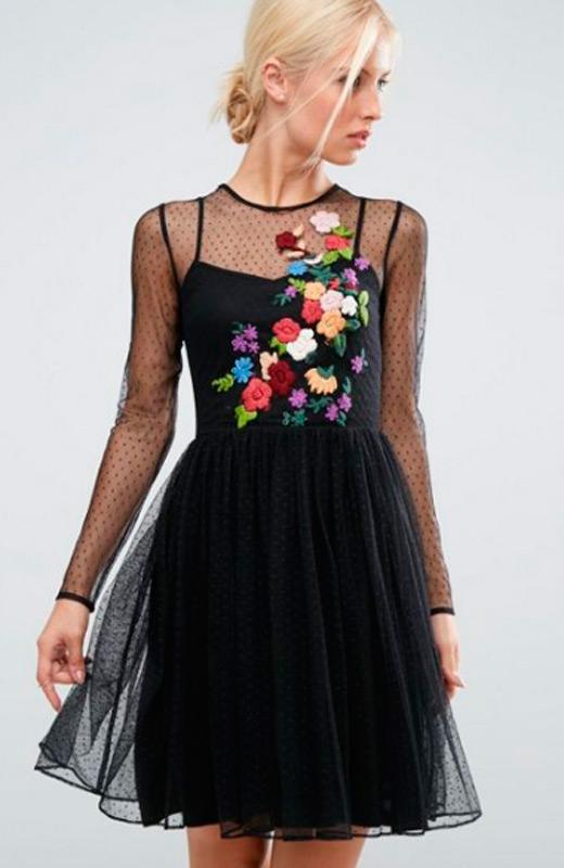 vestidos de fiesta de asos plumeti bordado