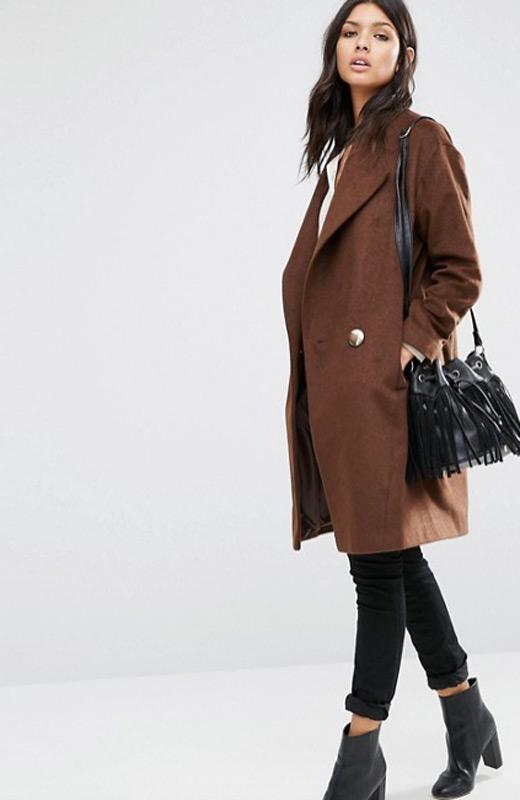 ASOS prendas de abrigo rebajas lana marron