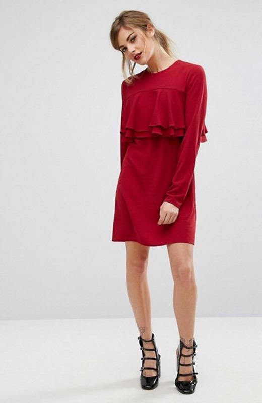 ASOS Vestidos invierno rojo