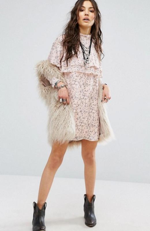 ASOS Vestidos invierno rosa