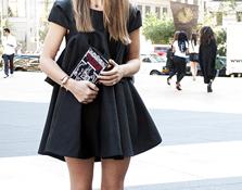 Little white & black dress