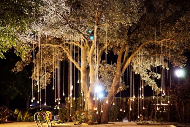 Velas y luces colgantes bodas decoraci n a trendy life for Luces colgantes para jardin