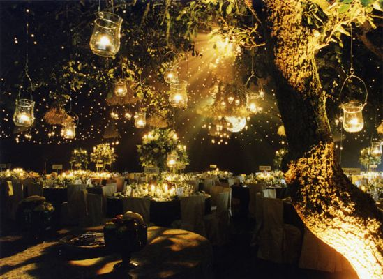 forest lights theme wedding