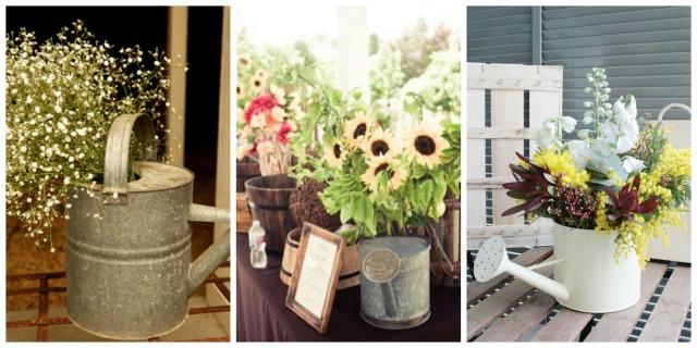decorar con flores - regaderas - deco - bodas-5