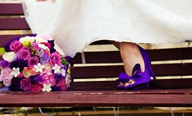 zapatos morados - moda nupcial - foro bodas