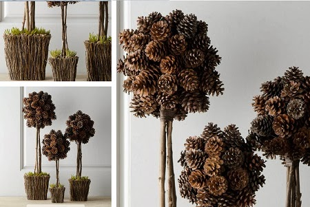 Diy con pi as decoraci n a trendy life weddings for Decoracion con pinas secas