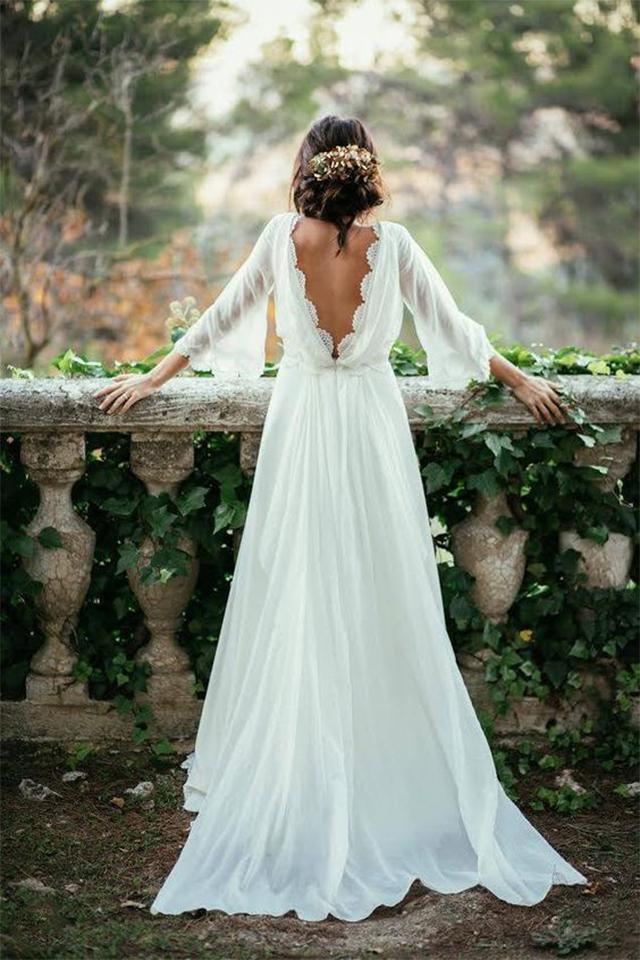 Vestidos novia de manga larga