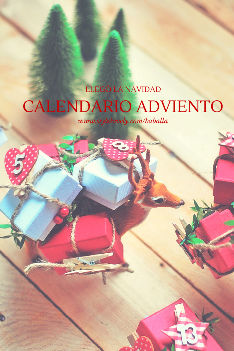 ideas calendario adviento