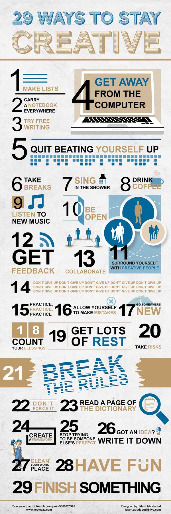 29 formas de ser creativo