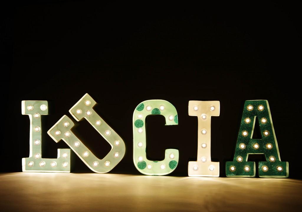 como hacer letras luminosas
