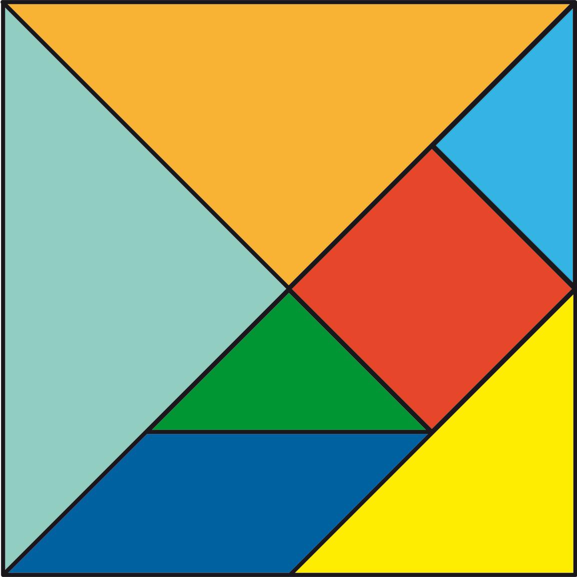 C mo hacer un tangram con ni os diy juegos baballa for Cuadros con formas geometricas