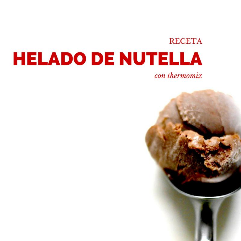 receta helado de nutella