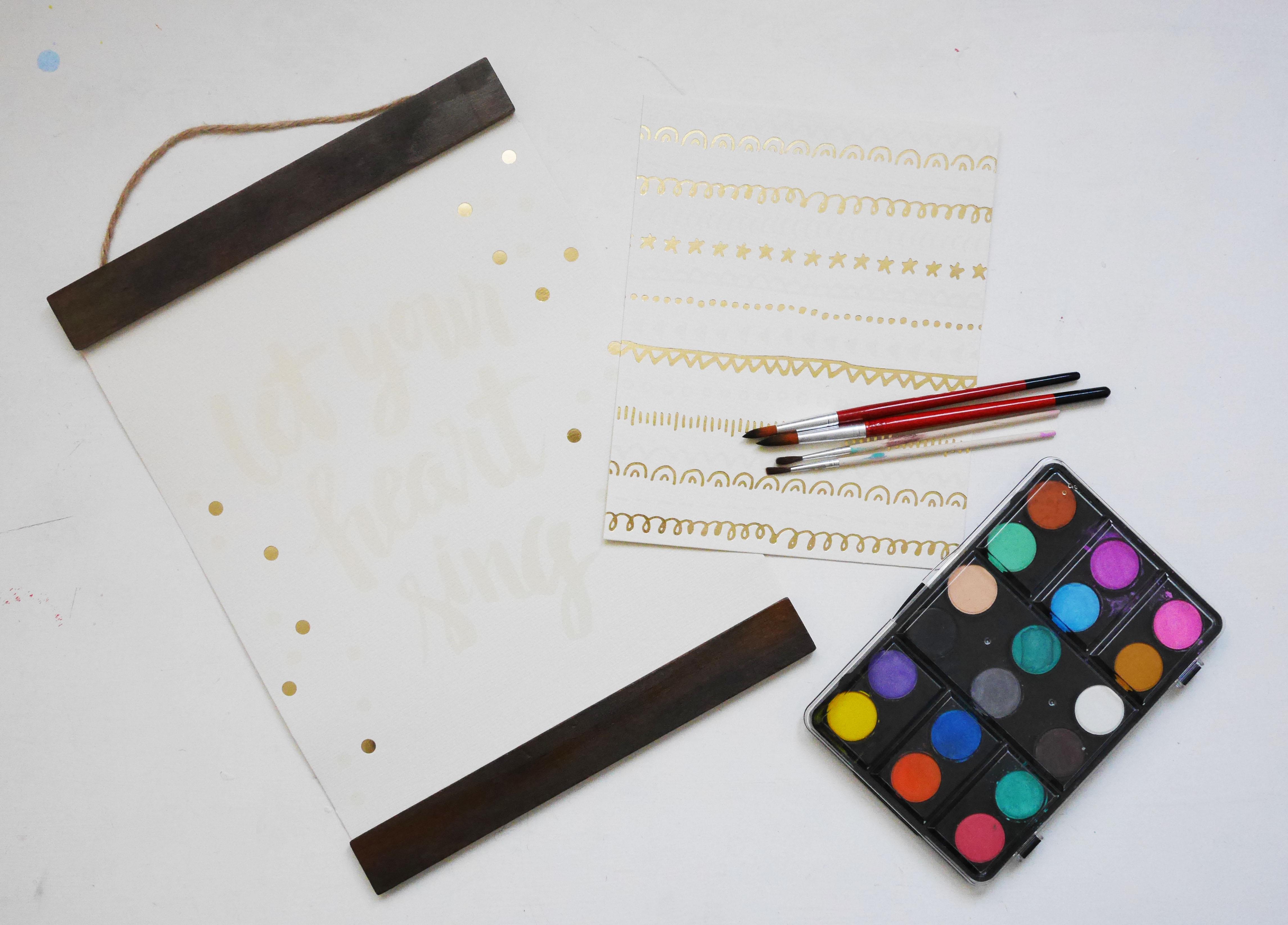 kit para pintar acuarela