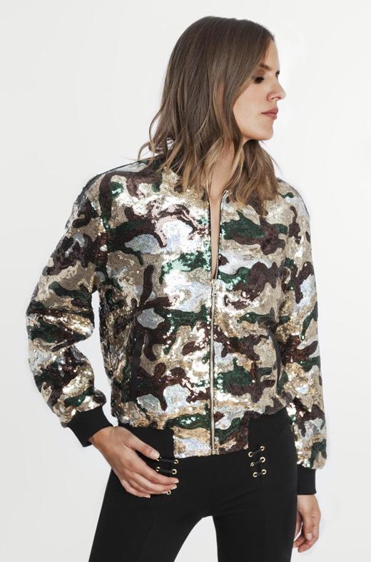 cazadora bomber de camuflaje