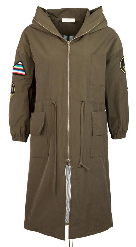 chubasqueros y abrigos con capuchas gabardina verde