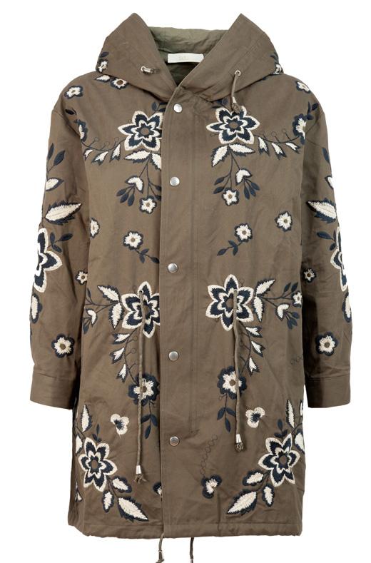 chubasqueros y abrigos con capucha , parka verde