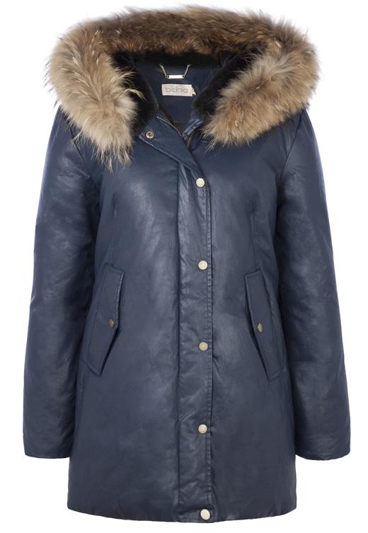 chubasqueros y abrigos con capucha , plumífero azul