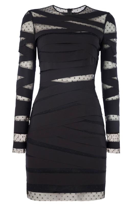 ropa negra de bdba. Vestido negro con transparencias