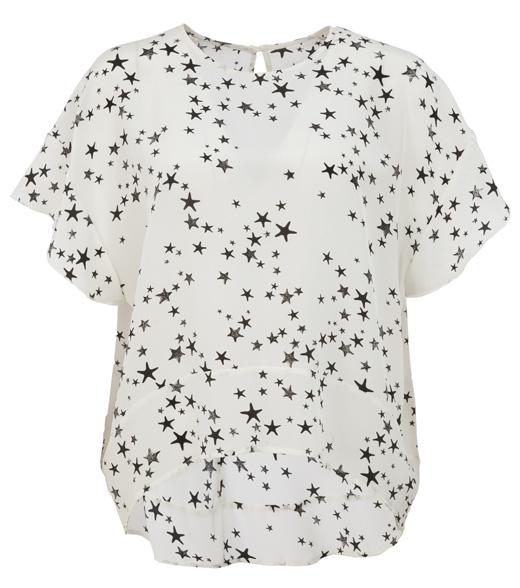 ropa con estrellas de bdba. Blusa blanca