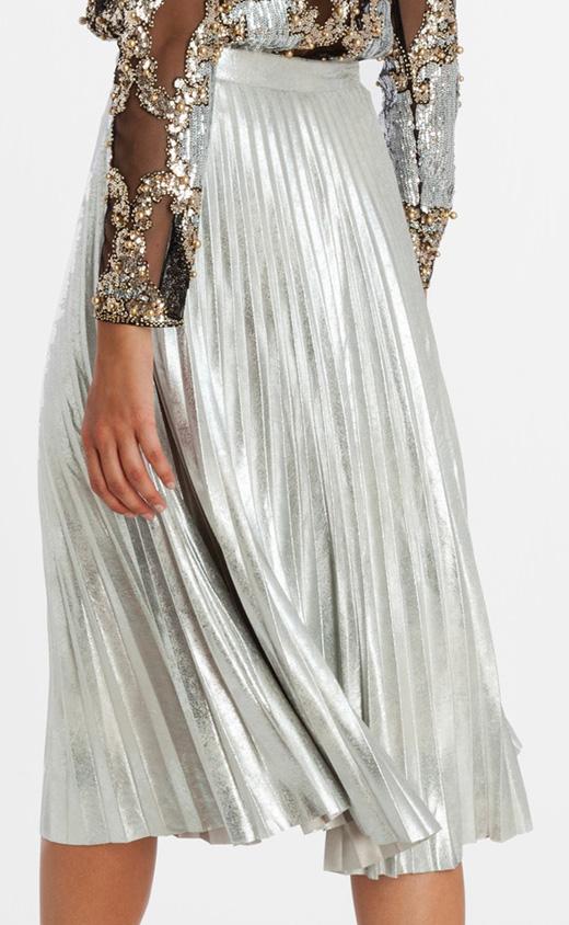 ropa metalizada bdba falda midi