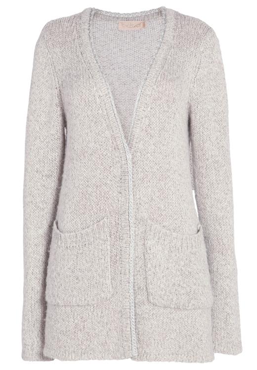 ropa de punto de bdba chaqueta gris con botones