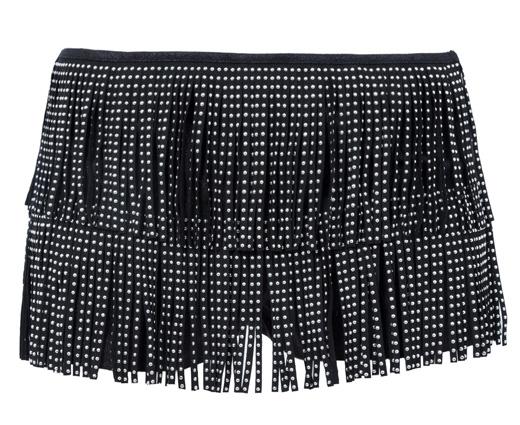 tendencia flecos shorts negros