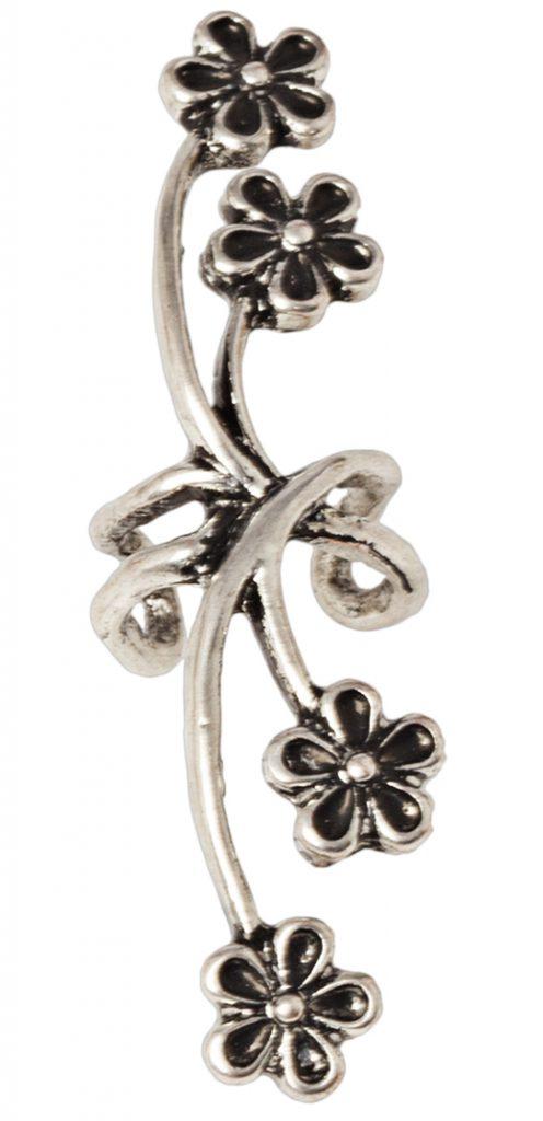 pendientes de fiesta con bdba. Ear cuff de flores
