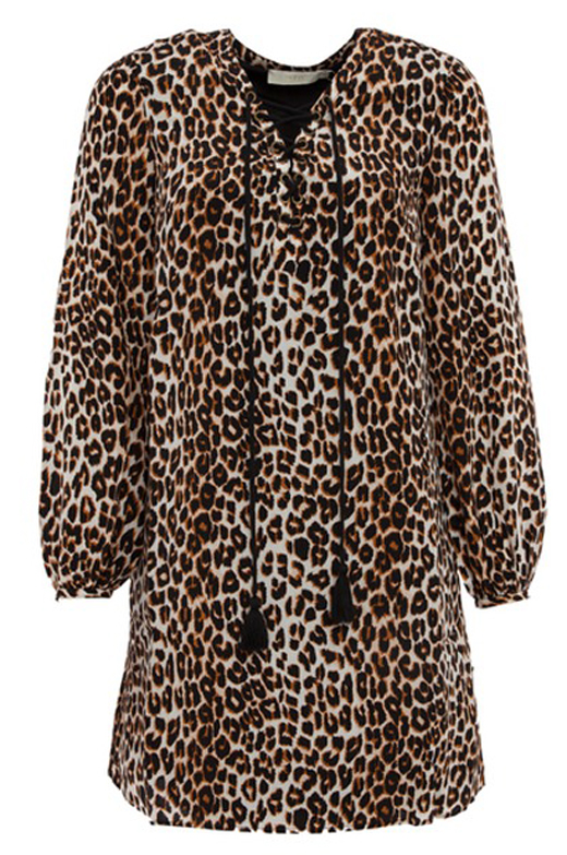 tarjeta regalo de BDBA. vestido leopardo