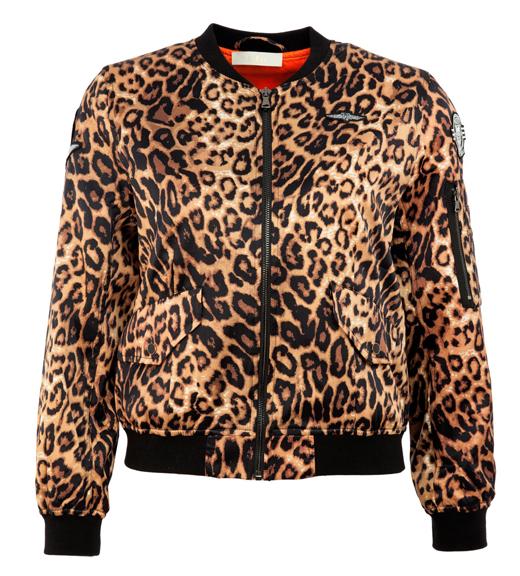 Carla Campra chaqueta bomber BDBA. Estampado de leopardo