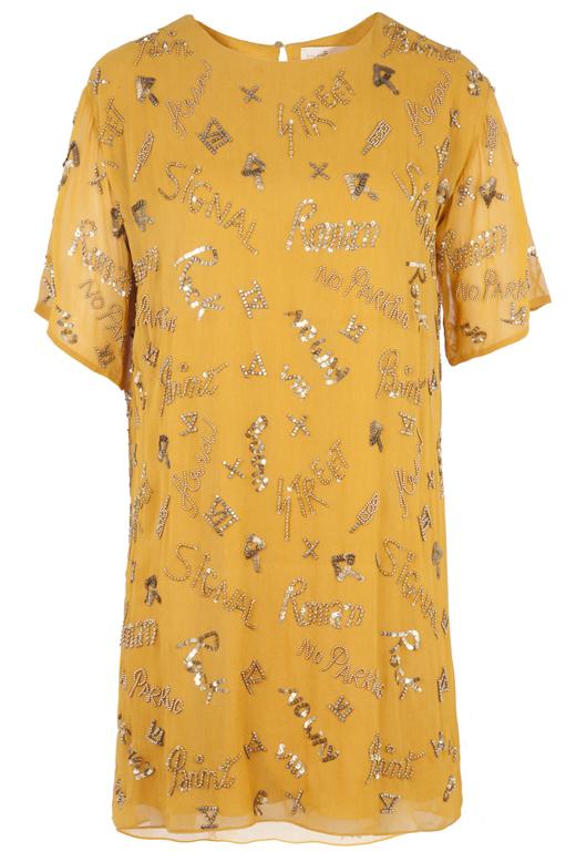 vestidos cortos para primavera con BDBA. mostaza