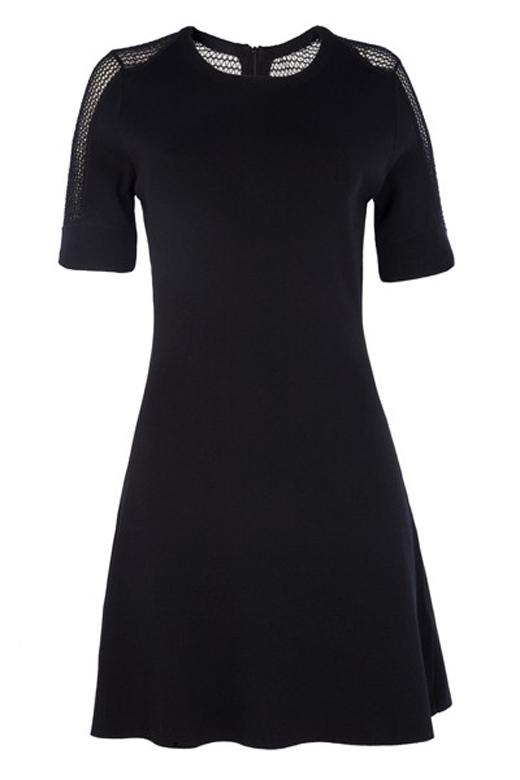 vestidos cortos para primavera de BDBA. Negro