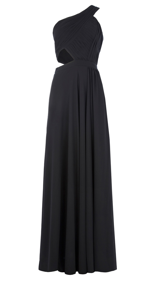 look de Blanca Suárez. Vestido negro