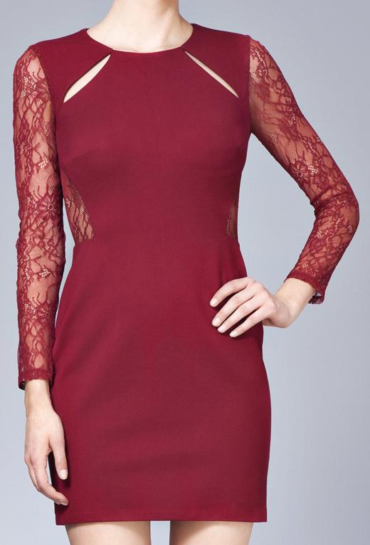 vestidos cortos de invitada BDBA rojo